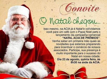Lançamento da Campanha Natal Acia de Prêmio