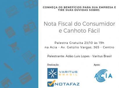 Palestra: Nota Fiscal ao Consumidor e Canhoto Fácil