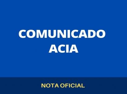 Nota oficial - Posicionamento Acia