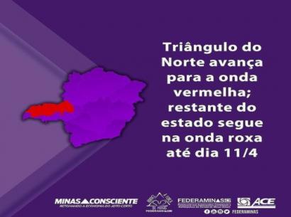 Região de Araxá permanece na Onda Roxa até o dia 11 de abril