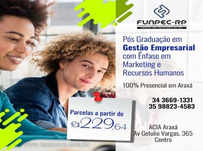 Pós em Gestão Empresarial com ênfase em Marketing e Recursos Humanos