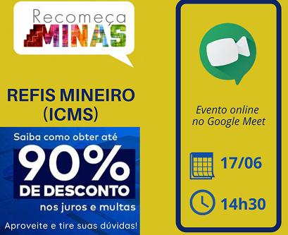 ACIA e Secretaria da Fazenda promovem palestra online sobre o programa Recomeça Minas