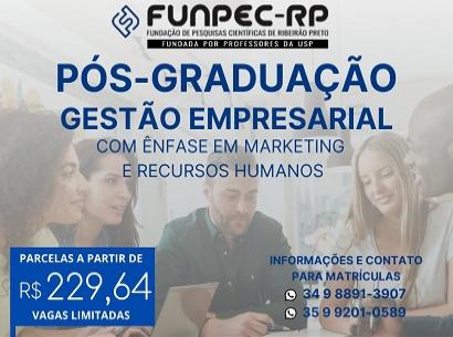 Matrículas abertas para a turma de Pós Graduação em Gestão Empresarial